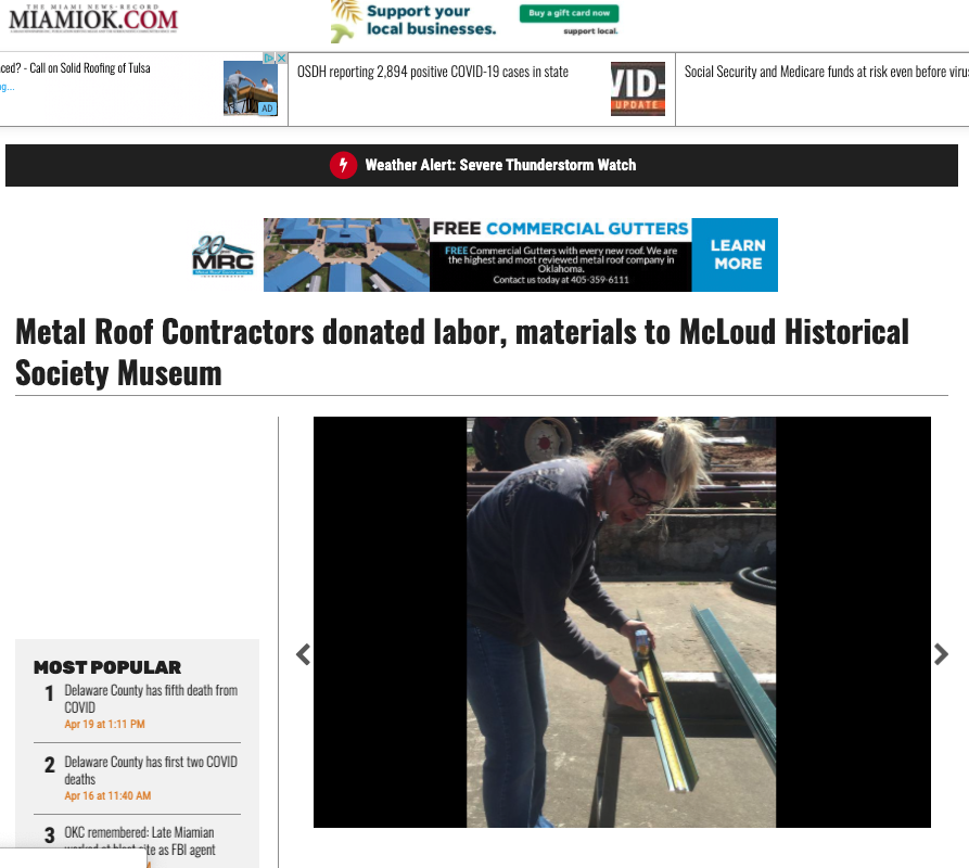 Metal Roof Contractors Oklahoma Article Image